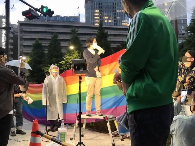『#逃げるな自民党 LGBT差別抗議デモ24時間シットイン』