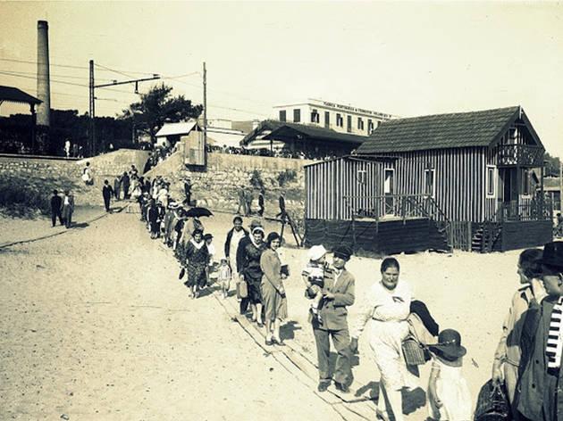 Pátio das Antigas, Lisboa de Antigamente, Praia da Cruz Quebrada, 1931