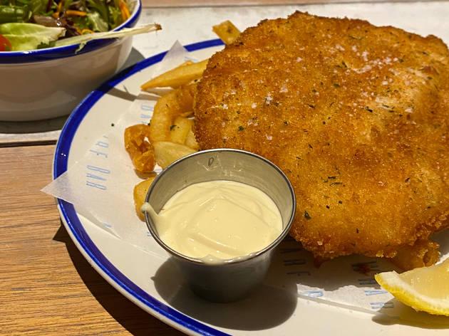 Manly Wharf Bar schnitzel
