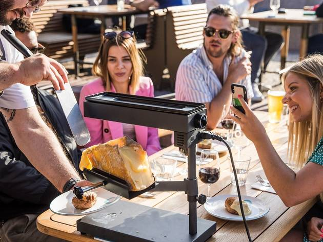 Get your hands on s'mores, cocktails and a roving raclette wheel at Opera Bar