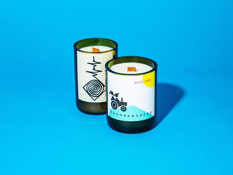 wine wax candles