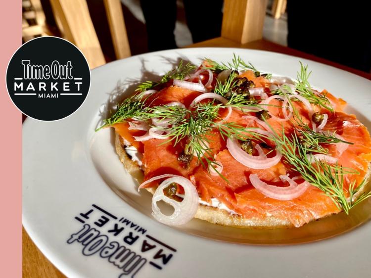 The Brooklyn arepa is our breakfast-for-dinner guilty pleasure