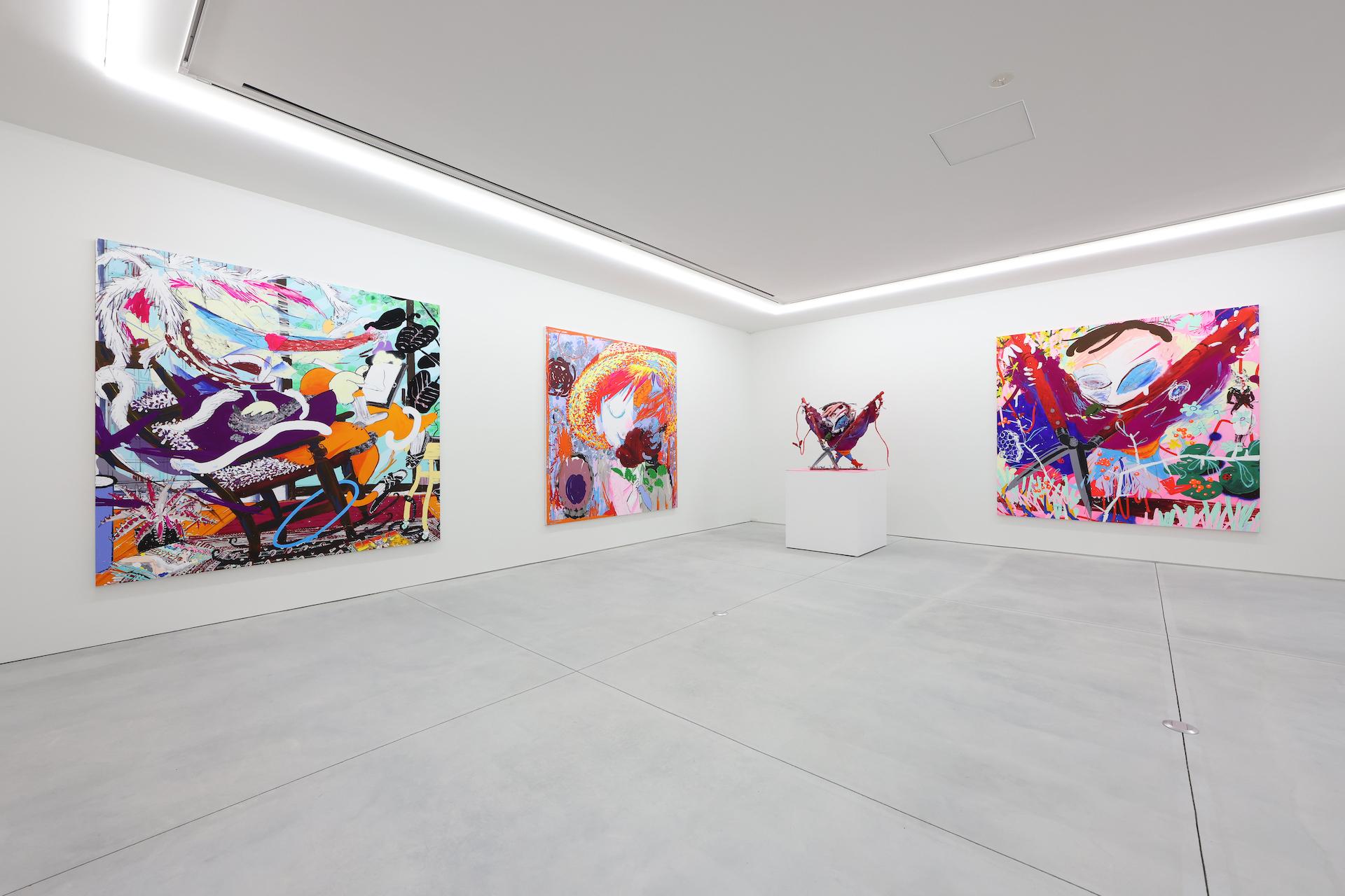Masato Mori solo exhibition Lonsdaleite Year, NANZUKA UNDERGROUND, Tokyo, 2021 ©Masato Mori Courtesy of NANZUKA
