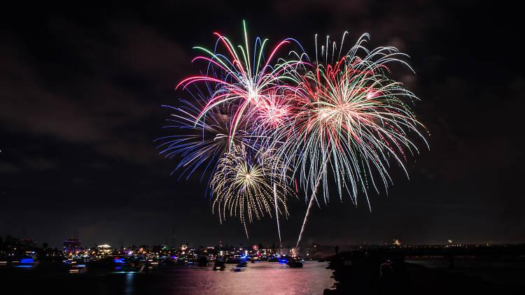 Marina del Rey fireworks