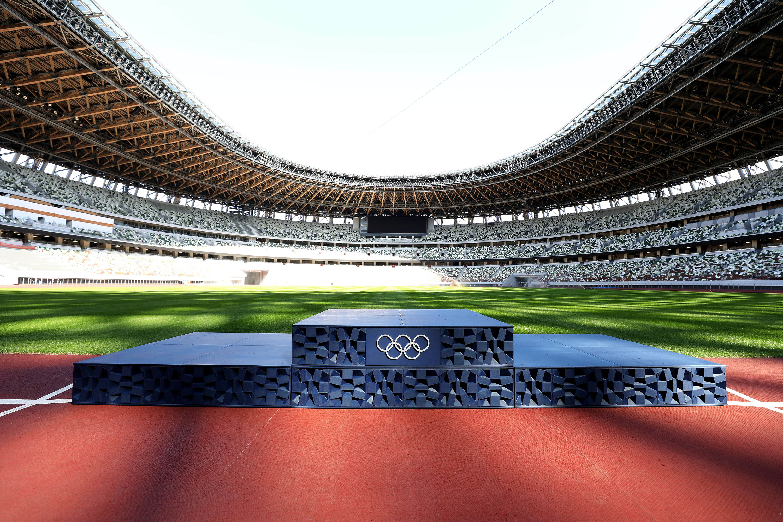 Tokyo Olympic podium
