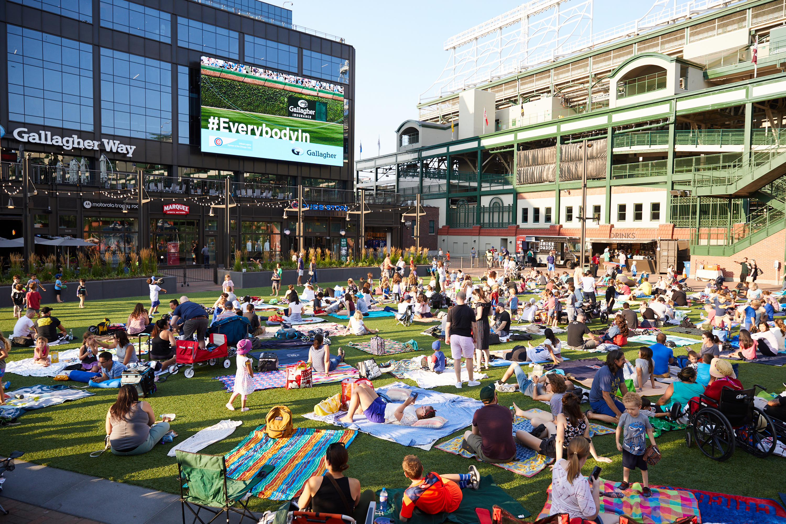 You can watch free movie screenings beside Wrigley Field this summer