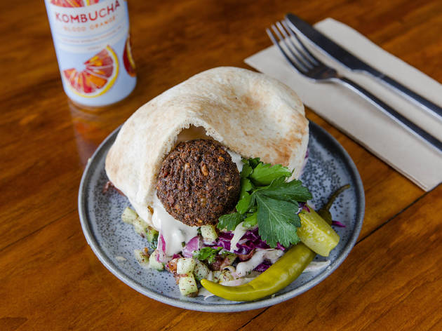 Just Falafs are giving out free falafel pitas on the public holiday