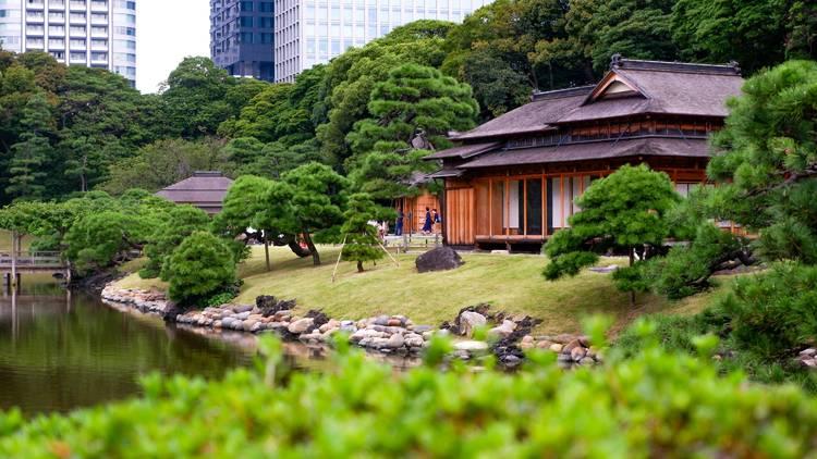 Hamarikyu Gardens, Japanese garden