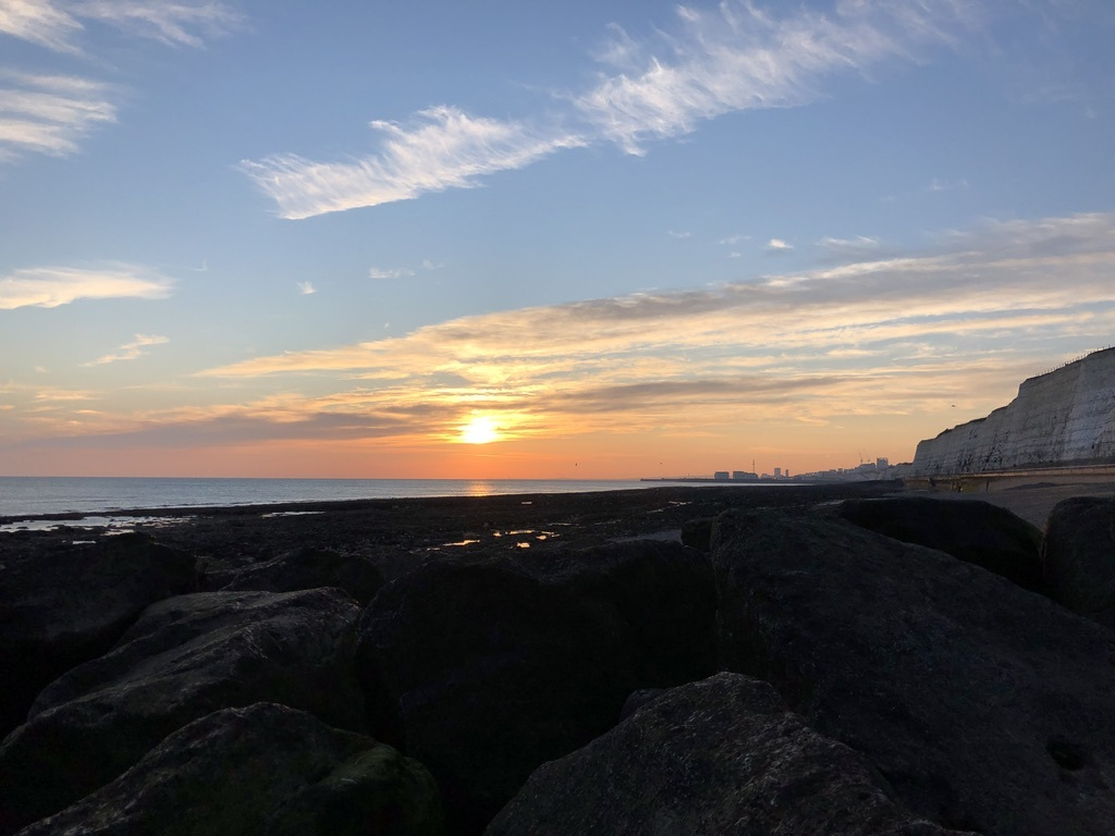 Brighton undercliff sunset