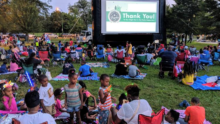 movies in the parks, chicago park district