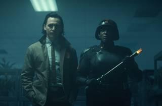 Tom Hiddleston and Wunmi Mosaku in Loki