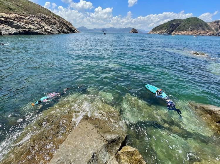 南果洲 浮潛賞海蝕拱