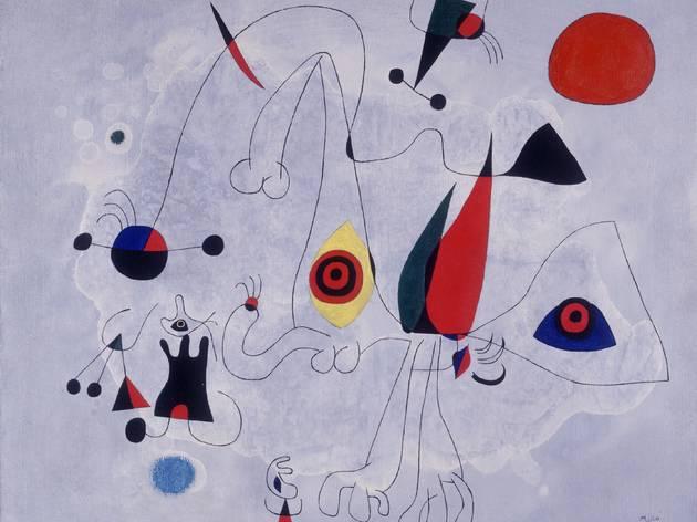'Joan Miró Dona i ocells a punta de dia', 1946