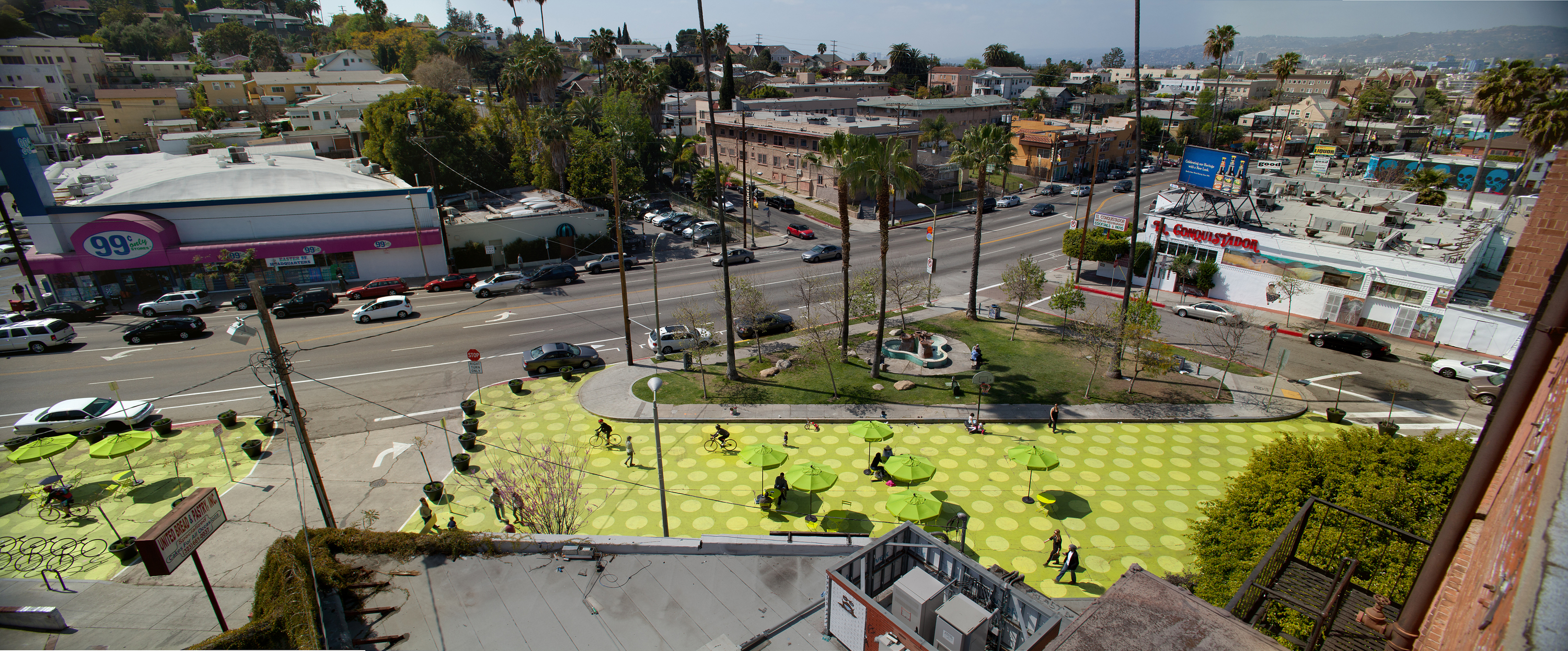 Sunset Triangle Plaza in Silver Lake