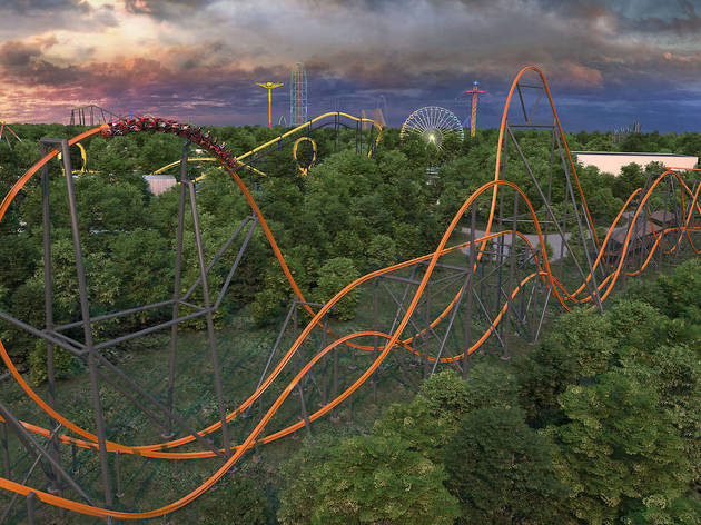 The world's tallest, fastest single-rail roller coaster is now open an hour outside NYC
