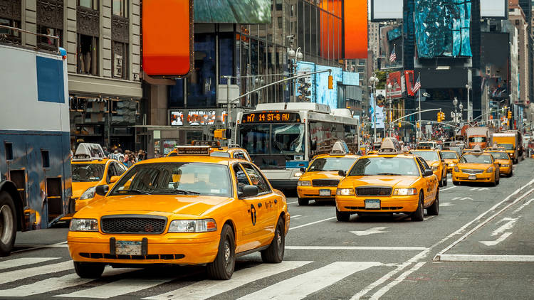 Yellow taxis in NYC