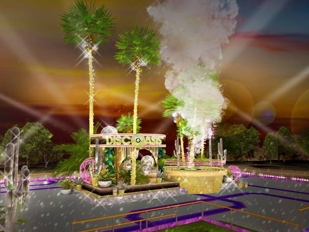 A glittery disco roller rink is popping up in a Palos Verdes garden this summer