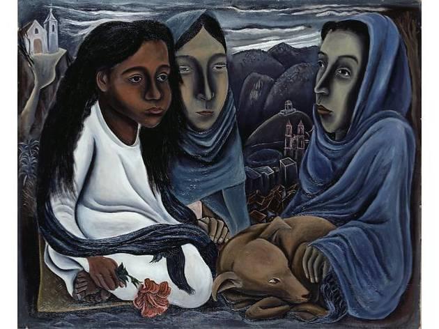 北川民次≪メキシコ三童女≫1937年、愛知県美術館蔵