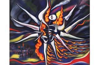 岡本太郎≪明日の神話≫1968年(部分)、川崎市岡本太郎美術館蔵