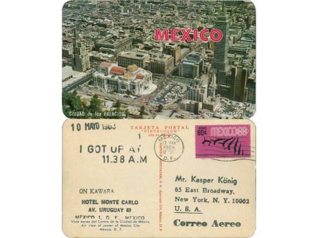 河原温 カスパーケーニッヒ氏に宛てた絵葉書、1968年5月10日、≪I Got Up≫(1968-79)より©One Million Years Foundation