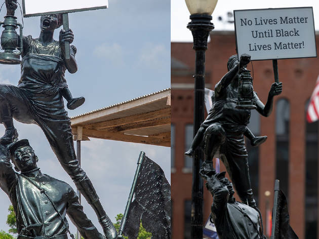 Blank Slate: Hope for a New America sculpture