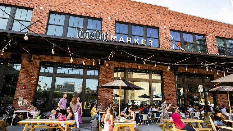 Time Out Market Chicago patio facade