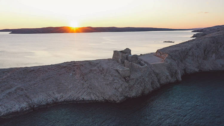 BSH Island Festival, pag, fortress, sun, sunset