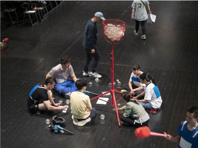 『YCAMスポーツハッカソン2019』(2019年)/(撮影:田邊アツシ、写真提供:山口情報芸術センター[YCAM])