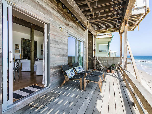 A rustic beachfront apartment