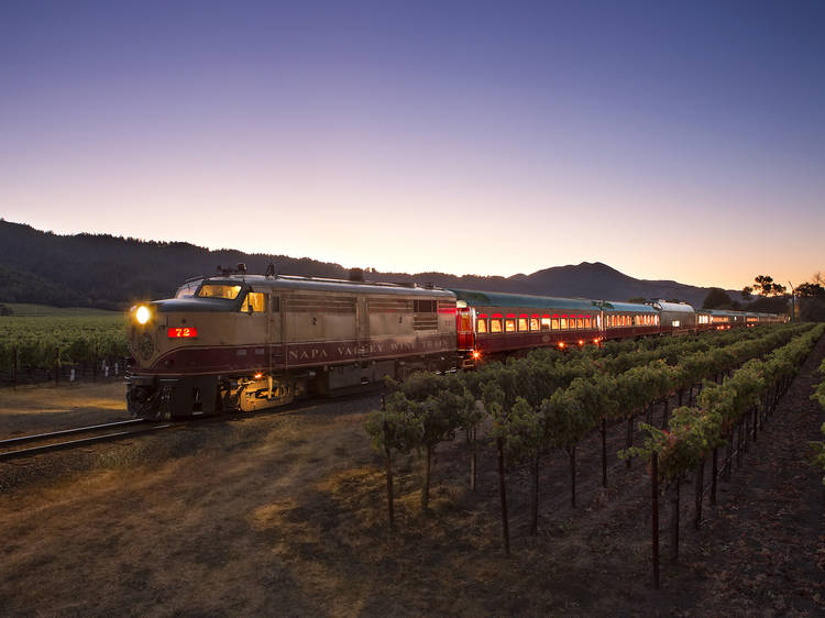 Sip wine and explore on this vintage train ride through Napa