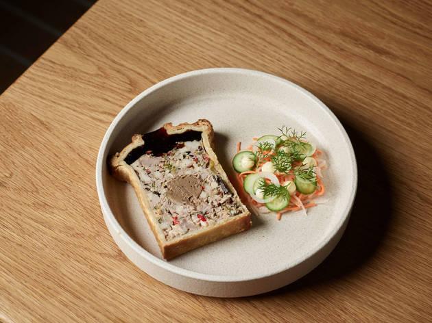 Pate en croute at Aru (Photograph: Kristoffer Paulsen)