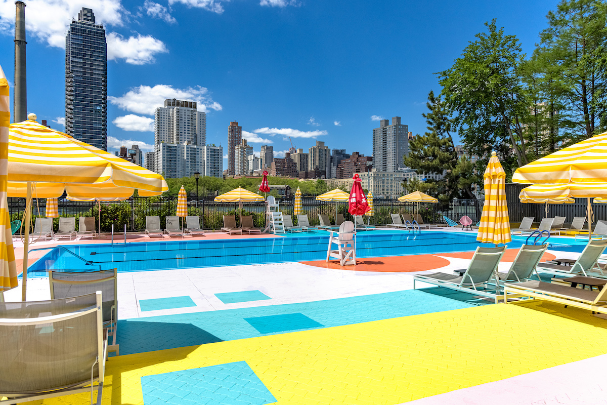 The pool at Roosevelt Island's Manhattan Park is now open