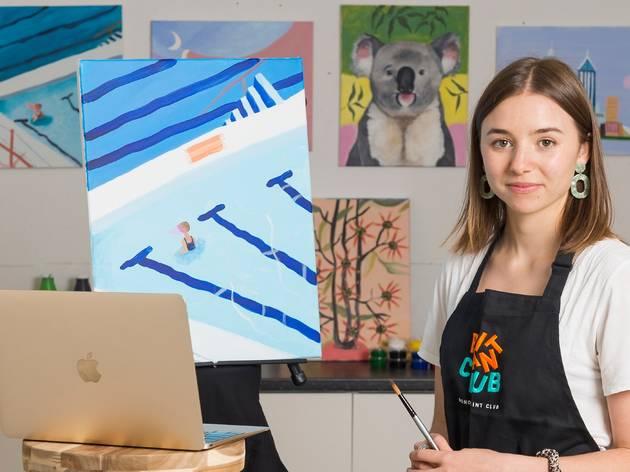 Artist Charlie Bennell teaches online painting class