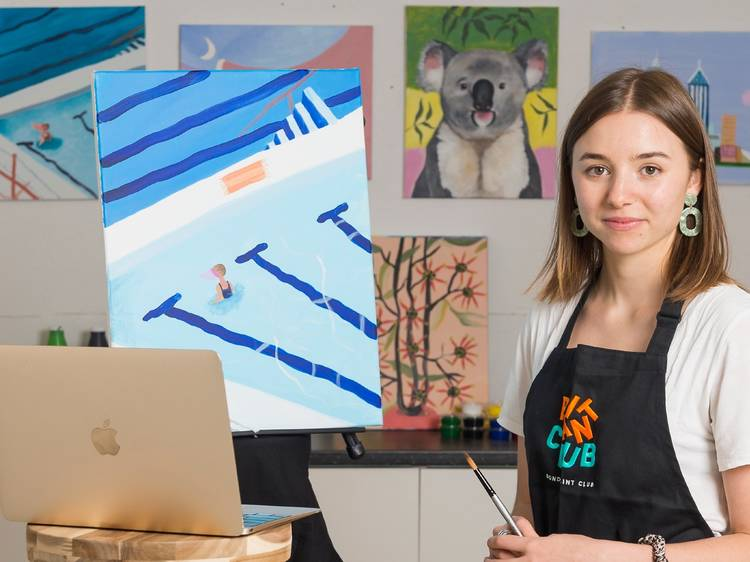 Sip and paint at home with these digital art classes and craft packs