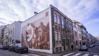 'D. Quixote e Sancho Pança' na rua Miguel Bombarda
