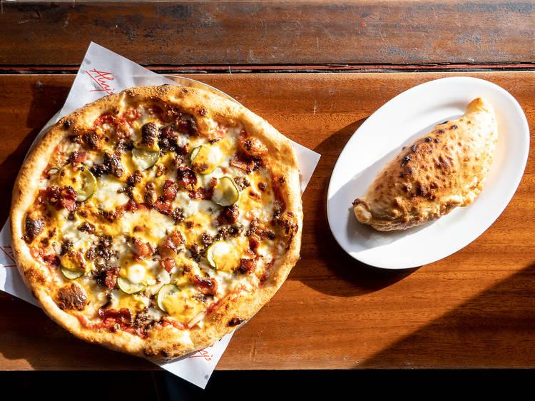 Honbo x Alvy's Cheeseburger Pizza
