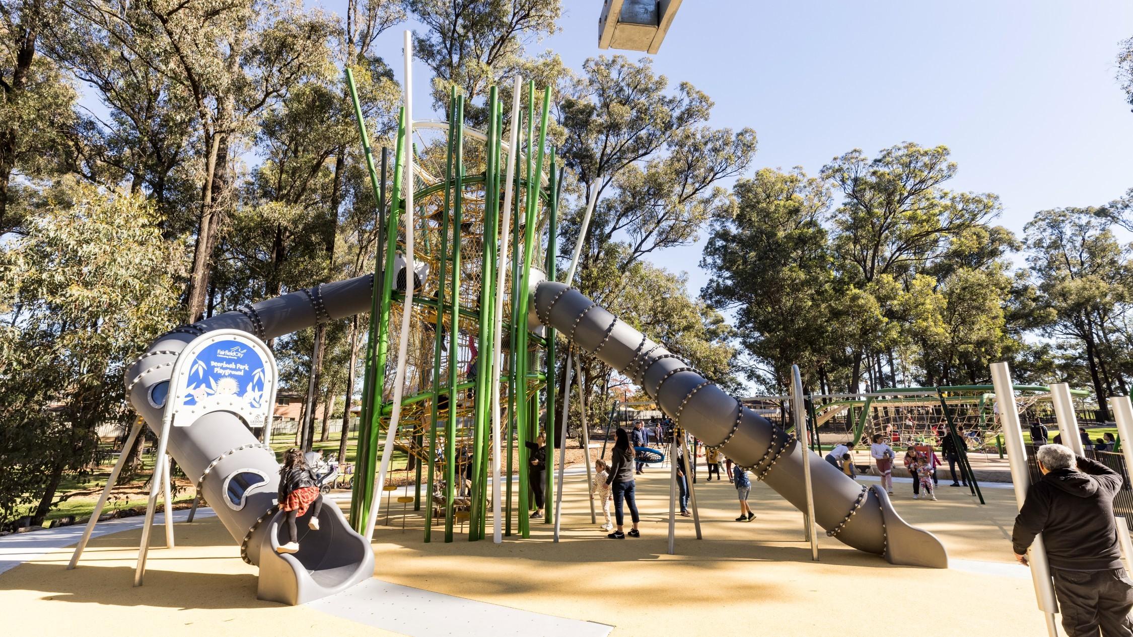 The new facilities at Deerbush Park Playground