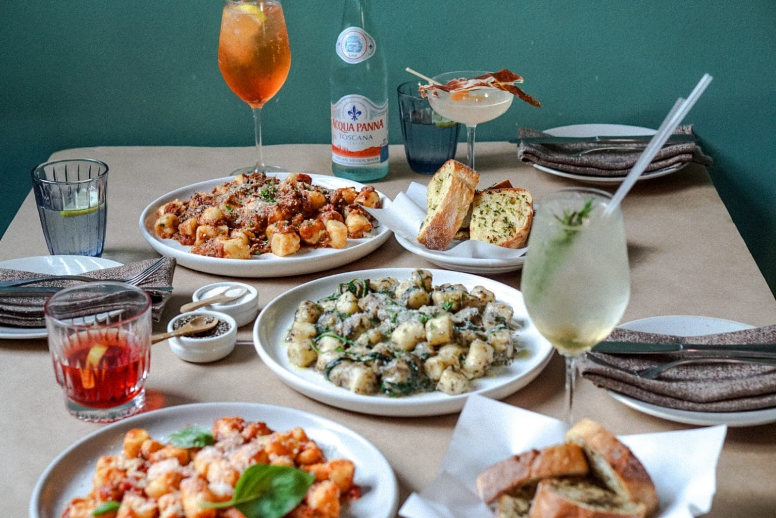 Get bottomless gnocchi and cocktails at Mamma's Boy Trattoria