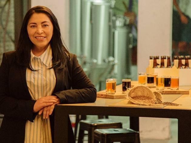 Elizabeth Rosas, productora de cerveza artesanal