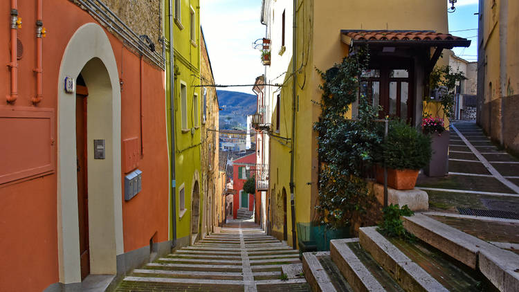 A town in Campobasso in Molise