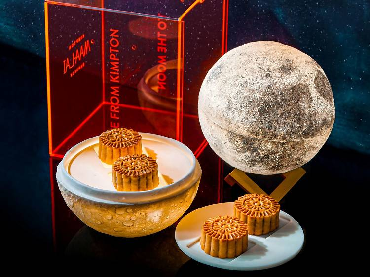 This LED-lit, moon-shaped mooncake box is everything you need this Mid-Autumn Festival