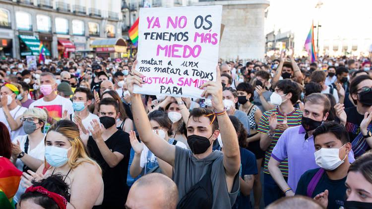 Protesta por el asesinato de Samuel Luiz en Madrid