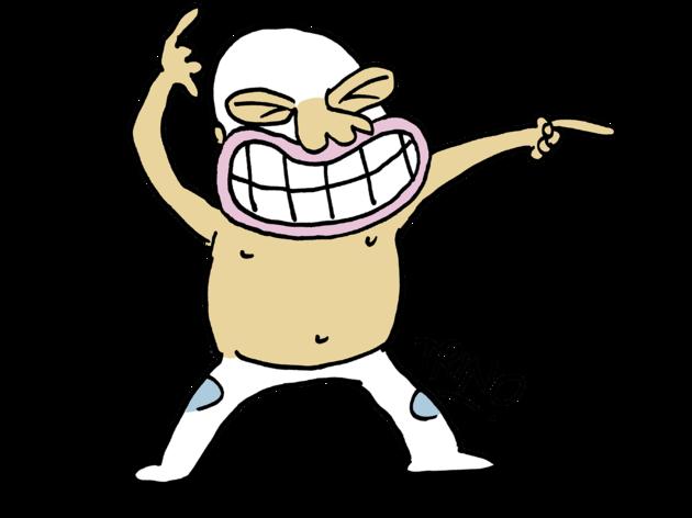 Ilustración de luchador con máscara y traje blanco