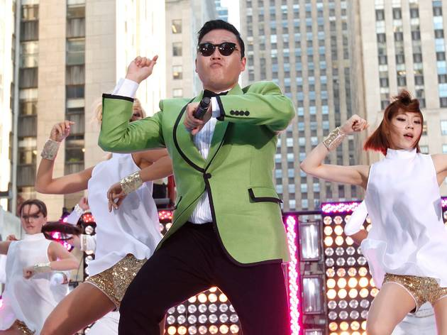 Psy performs Gangnam Style, on TODAY, 2012, New York, USA. Courtesy of Jason Decrow, Invision,AP, Shutterstock