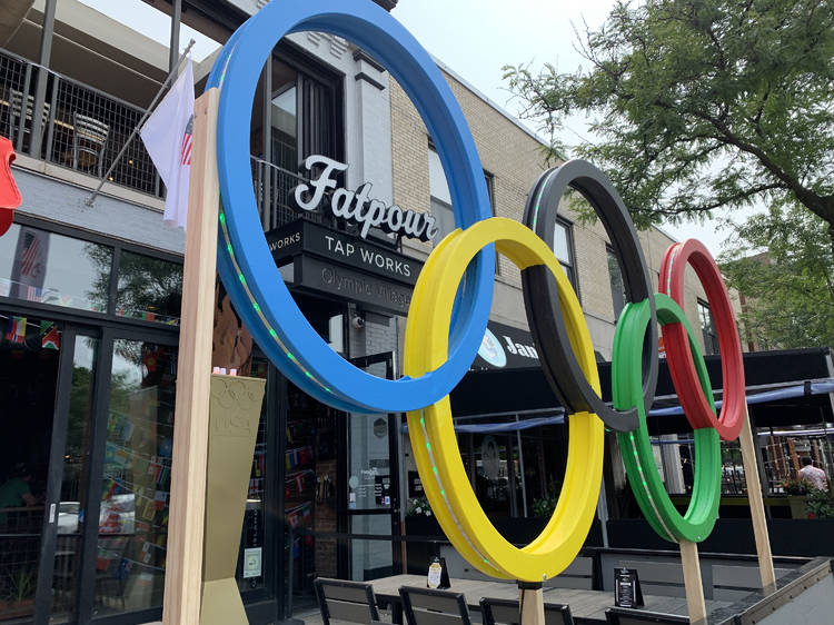 Fatpour Olympic Village Pop-up