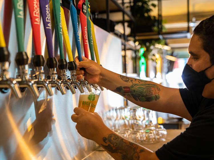 Cerveza con poco alcohol en La Roma Brewing