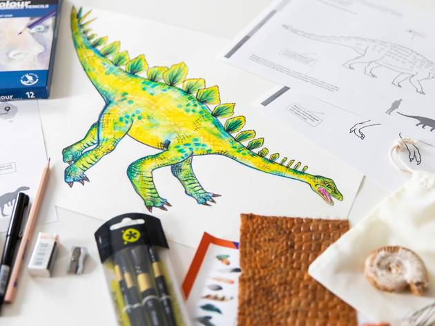 A drawing of a dinosaur