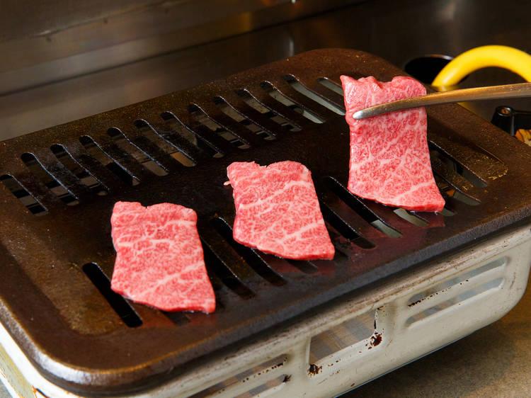 Feast on premium wagyu beef at Yakiniku Champion Ebisu Honten