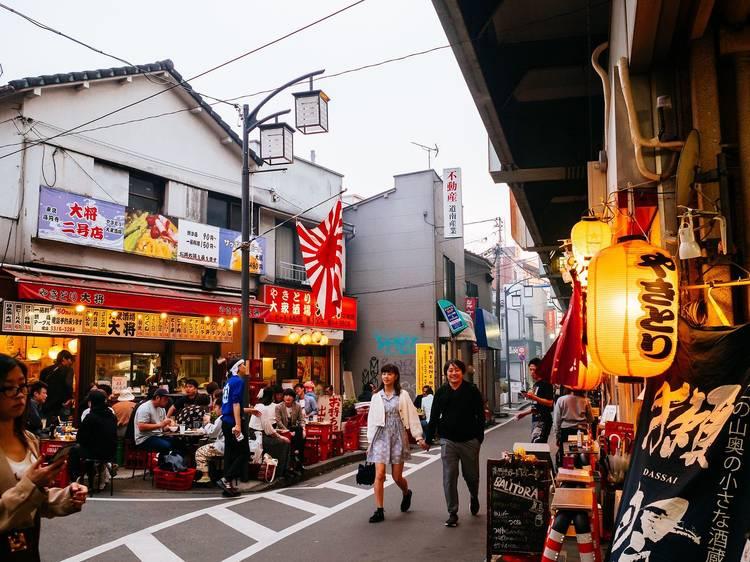 Enjoy people-watching at Gado-Shita, Koenji's 'yakitori street'