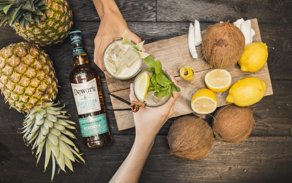 Dewar's 8 Caribbean Smooth Coconut Highball